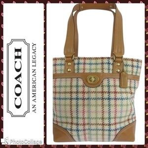 Coach Tattersall Hampton Wool Tote